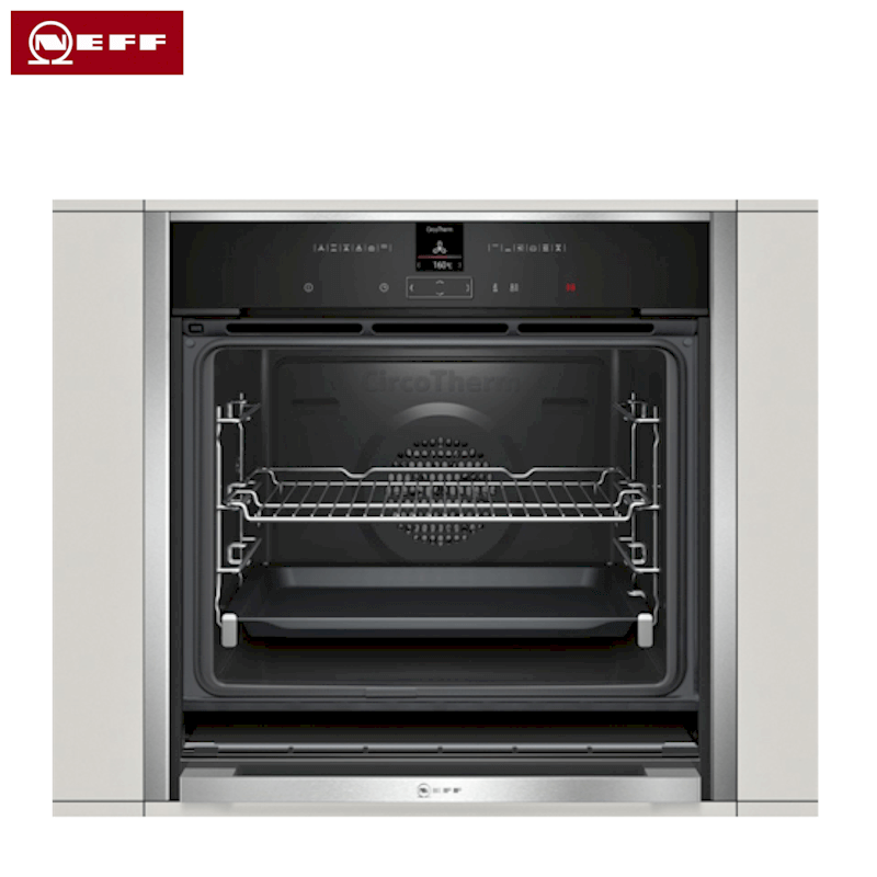 single ovens neff 39 hide slide 39 single fan oven b57cr23n0b. Black Bedroom Furniture Sets. Home Design Ideas